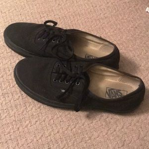 Solid black vans